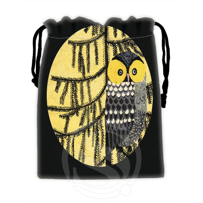 Best Nice Custom Owl #6 Drawstring Bags For Mobile Phone Tablet PC Packaging Gift Bags18X22cm SQ00715-@H0313