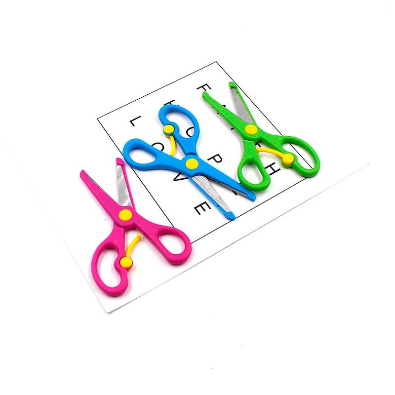 New 1 High Quality Mini Safety Plastic Round Head Scissors Student Children Kindergarten School Paper Cutting Supplies