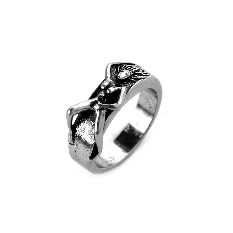 Unique Naked Woman Ring Silver Special Cool Mans Trendy -5056