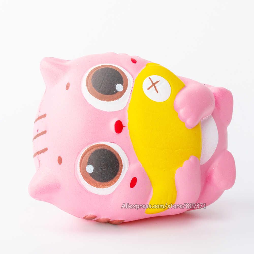 Kawaii gato raro Squishy exprimidor lento aumento grande lindo Animal exprimidor perfumado pan suave juguetes para niños