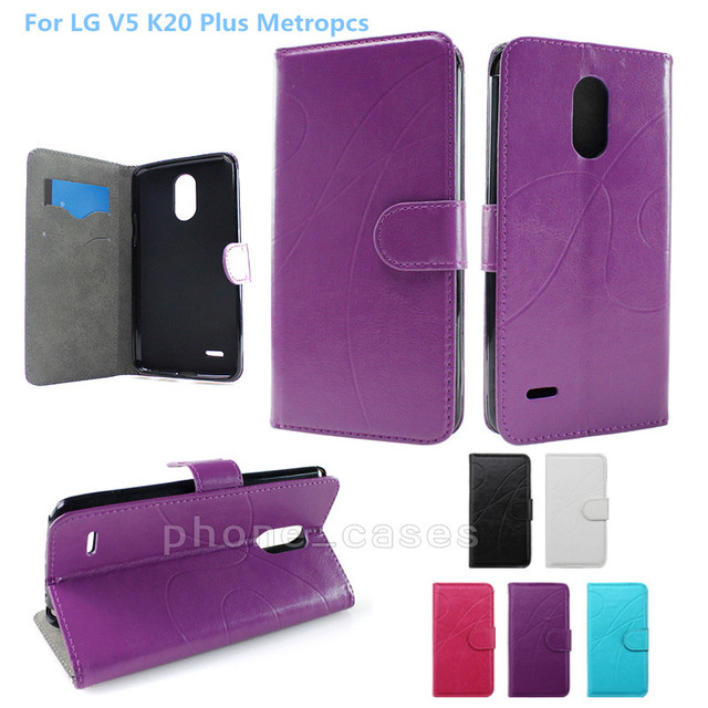 new styles 45122 da1c5 US $3.6 |NEW Luxury Wallet Stand Leather Case For LG V5 K20 Plus Metropcs  case With Credit Card Holder 2017 Cell Phone Case Shipping-in Wallet Cases  ...