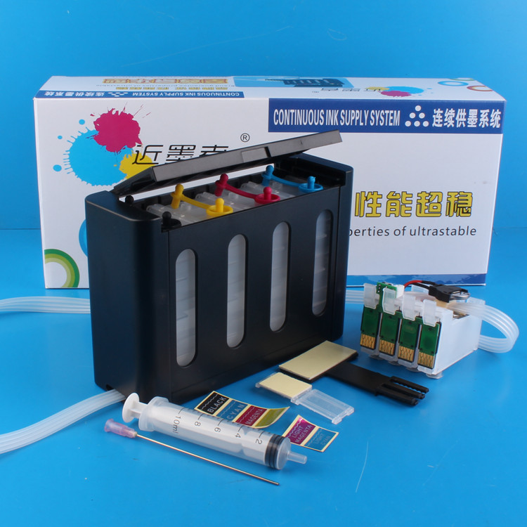 Universal 4Color Continuous Ink Supply System CISS kit with full accessaries bulk ink tank for EPSON XP 202 XP202 XP 302 Printer