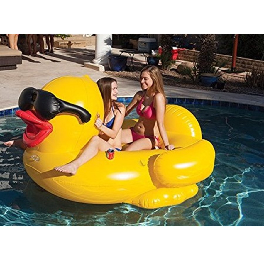 Inflatable Yellow Sunglasses Duck Pool Float Swimming Pool Ring Summer Inflatable Toys For Adult