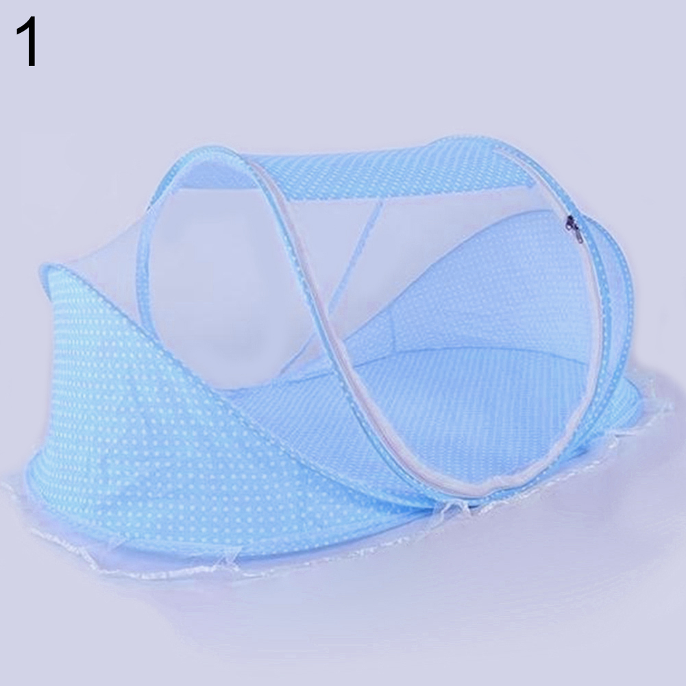 Baby Bed Folding Summer Anti Mosquito Net Modeling Mattress Pillow Tent Crib
