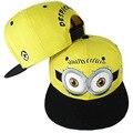 2016 men minion bone women cartoon hat male hip hop cap female baseball cap unisex brim straight snapback chapeau discount