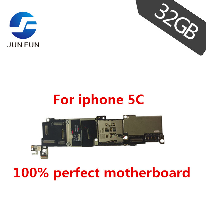 JUN FAN motherboard for iPhone 5C 32GB ROM Mainboard with