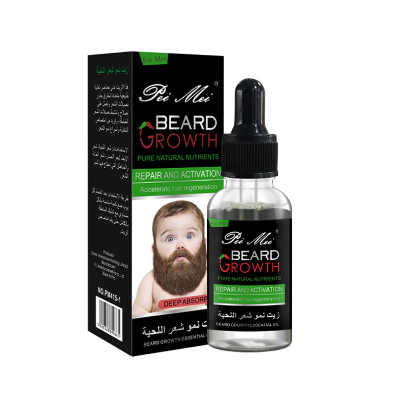 Dropper Natural Beard Growth Essential Oil Gentle Nourishing Beard Care Moustache Beard Oil In Stock* image