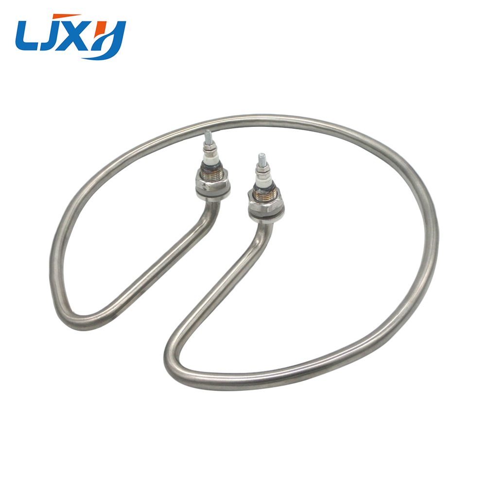LJXH Standard Type Water Heating Element Electric Tube Heater for Open Bucket 304 Stainless Steel/Copper Pipe 220V 2KW/2.5KW/3KW 3kw 220v food grade sus304 electric heat tube for electric barrel coil heating element for water bucket noodle maker parts