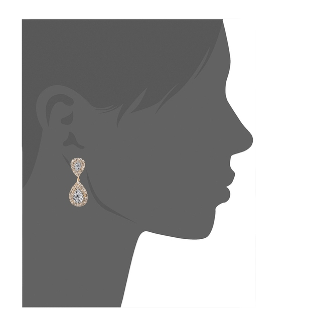 Chicvie модные свадебные серьги золотого цвета с кристаллами