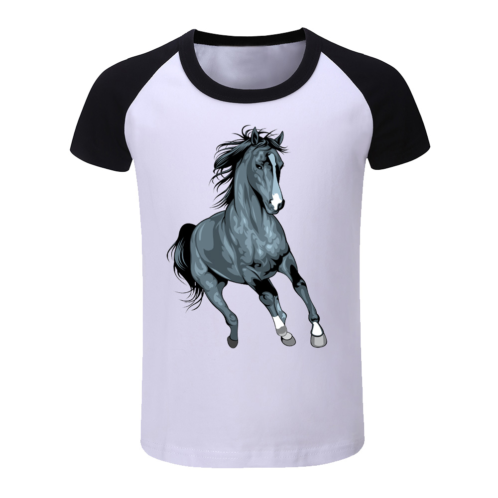 Boys Top Children Cool Cartoon Mercedes Horse Printed Baby Summer T shirt Boy Clothes Kid Tee Shirt Baby Boy Clothing C2356