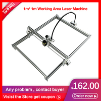 DIY 15w Big Power Laser metal Engraver Cutting Machine,1*1m Big Work Size laser Metal Laser Engraving Machine