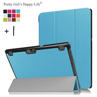 Universal For Lenovo Tab2 A10-70F / Tab 2 A10-30 Case Protective Flip Cover Tablet 3 Fold Stand Leather Fundas Shell+Stylus