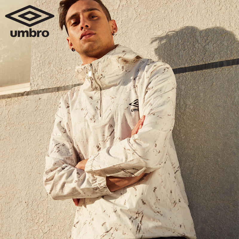 Umbro New Men Windproof Leisure Sports Coat Training Series Waterproof Windproof Ligth-weight Tops Sportswear UCC63921 authentic nike men s coat spring new windproof jacket windrunner training