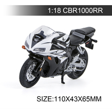 H Motorcycle Models CBR-1000RR CBR600F4i CBR 600RR CBR600 F4 VRF 1200F 1:18 scale Alloy motorcycle model