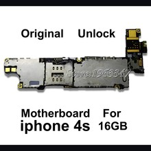 Unlocked Original 16GB Phone Mainboard For Iphone 4S, 100% Working  EU version   Motherboard With Full Chips Logic Board