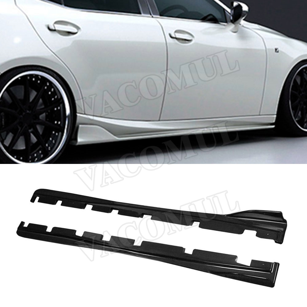 Carbon Fiber Side Skirts Protector Body Kits for LEXUS IS300 IS350 IS F Sport Sedan 4 Door 2013-2018 Car Styling 4 x pieces carbon fiber car side door bumper edge protector trim car styling for ford fiesta st