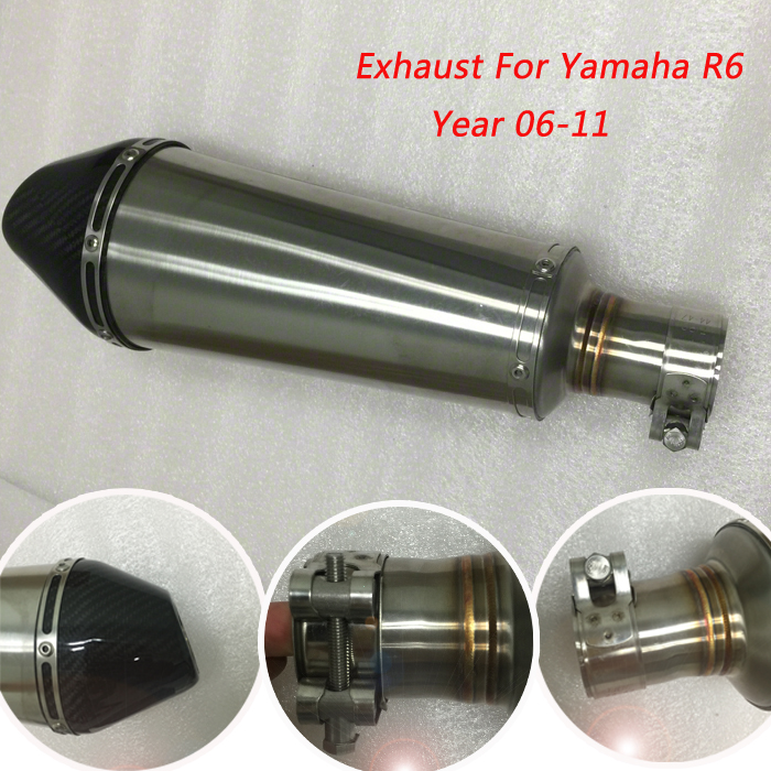 Popular r6 exhaust buy cheap r6 exhaust lots from china r6 for Yamaha r6 carbon fiber exhaust