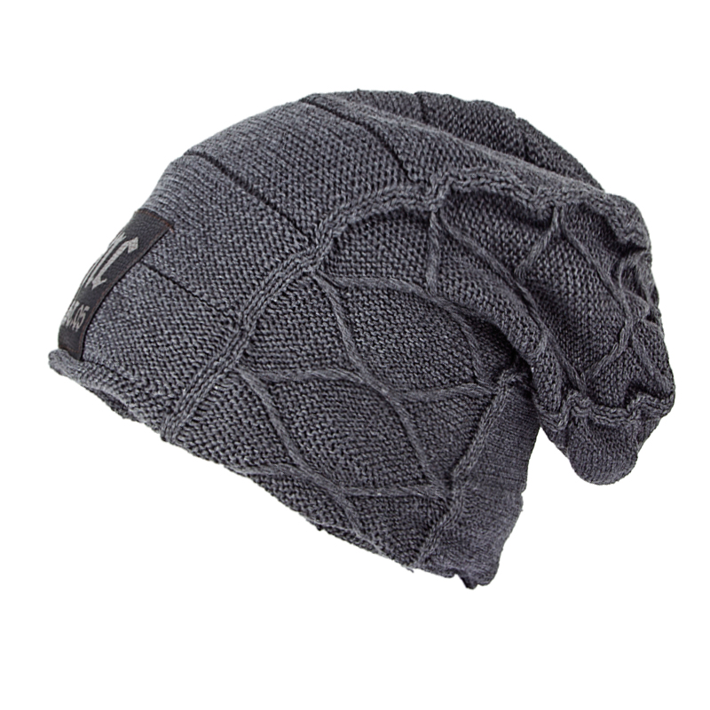Super cool Skull patrón sombreros para los hombres sombreros hechos punto invierno de lana sombreros para hombres bonnet homme casquillo ocasional del sombrero del invierno sombreros para las mujeres