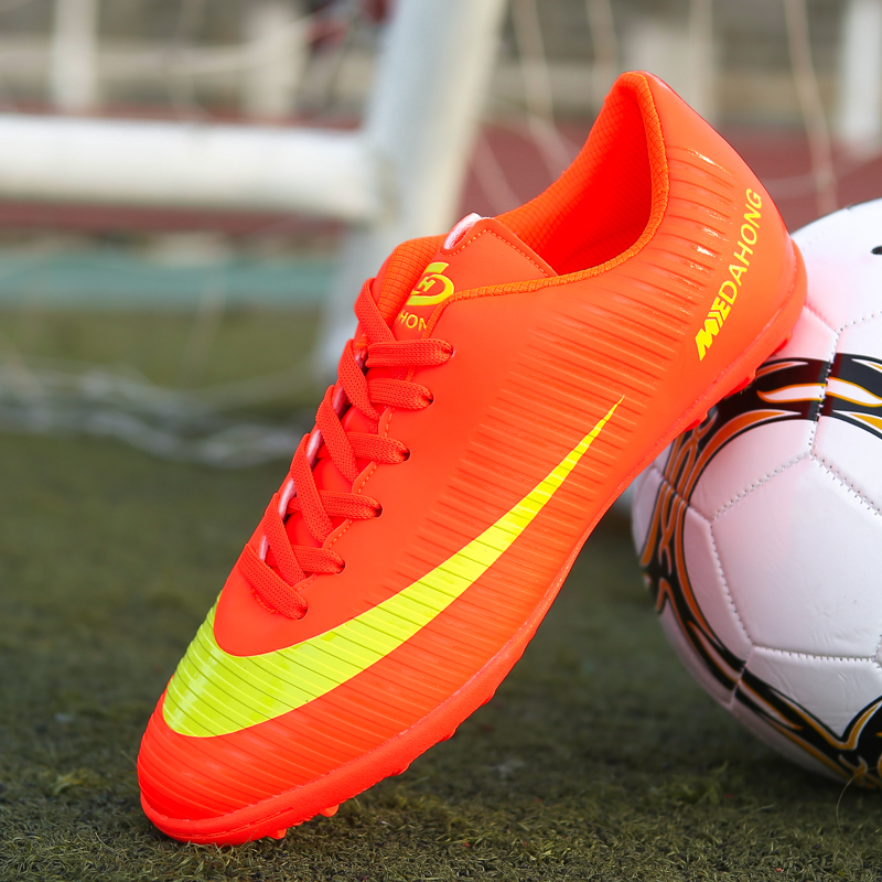 Brand Men Indoor Soccer Shoes Superfly Breathable High Quality Cheap Original Kids Football Boots Chaussure De Football Cleats(China)