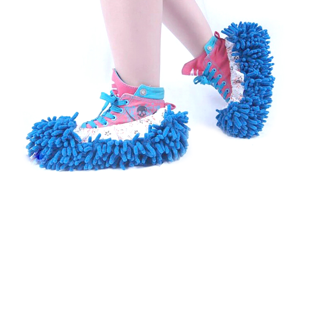 1pc Candy Color Mop Slipper Floor Polishing Cover Cleaner Dusting Cleaning Foot Shoes