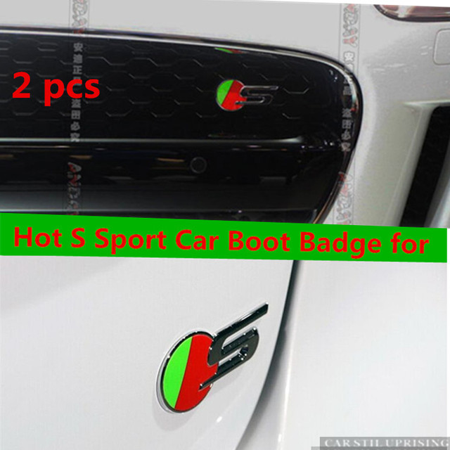 2 Pcs Hot S Sport Car Boot Badge For Jaguar Xf Xj Xk Xjr Xjs F Type