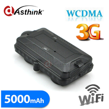 Wifi WCDMA 3G 2G GPS Tracker fot car Powerful Magnet FREE Tracking Software Platform APP 5000mAh
