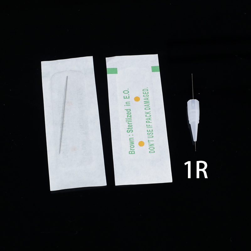 Disposable Sterilized Professional Tattoo needles 1RL for Tattoo Eyebrow Pen Machine Permanent Makeup Kit 100PCS PMU Needles 1RDisposable Sterilized Professional Tattoo needles 1RL for Tattoo Eyebrow Pen Machine Permanent Makeup Kit 100PCS PMU Needles 1R