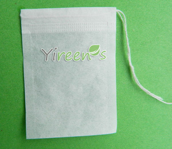 Free Ship! 1000pcs/lot  50 X 70mm Disposable Tea Filters,  RIGHT ANGLE, Single Drawstring Tea Bag, Food-grade Filter Paper Bags,