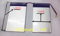 7.4V 13000mAh Tablets Batteries DIY U30GT  U30GT1  U30GT2 dual four-core tablet pc battery 33161125 Size:3.5 * 151 * 128mm