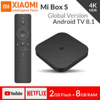 Global Xiaomi Mi TV Box S 4K HDR TV Receiver 8.1 Ultra HD 2G Android 8G WIFI Google Cast Netflix IPTV Set top Box 4 Media Player