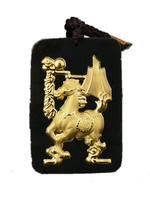 Koraba Fine Jewelry 24K Gold Chinese Dark Green Jade Horse Pendant Rope Necklace Mens Jewelry Luxury Jewelry