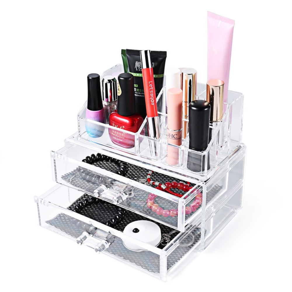 Large 3 layer Acrylic Makeup Organizer Storage Box Make Up Organizer Drawers Organizer Organiser Lipstick Case 23.3*13.6*14.3cm ...