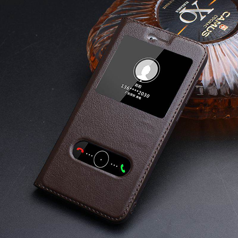 bilder für Fenster Ansicht Echtes Leder-kasten Für Huawei Honor 8 Lite magnetische Schutz Luxus Abdeckung Coque Für Honor 8 Lite Flip Fall Fundas