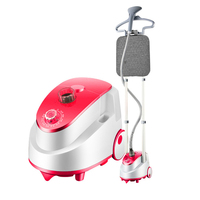 Household Electric Ironing Machine Double Pole Garment Steamer Portable Handheld Hanging Clothes Ironing Tool with Steam Brush