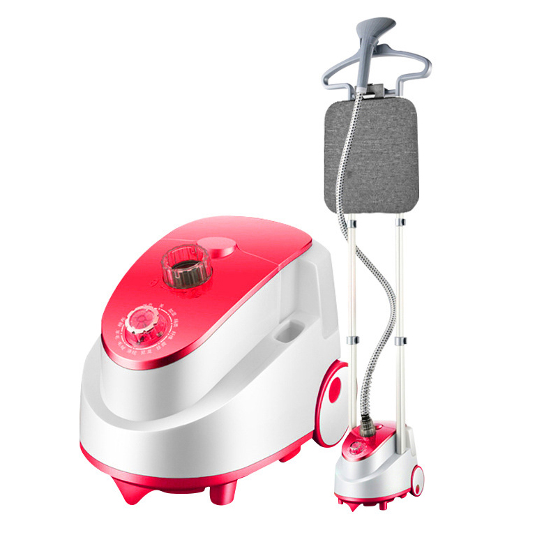 Uso doméstico Máquina de Engomar Eléctrico Duplo Pólo Vapor de Vestuário Portátil Pendurado Passar Roupa Ferramenta com Escova de Vapor