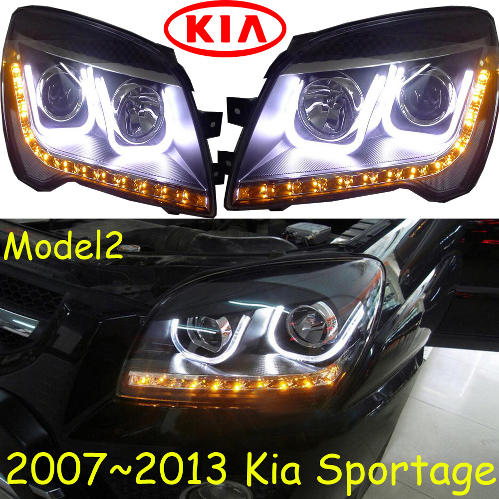 KlA Sportage headlight 2011 2014 Fit for LHD and RHD Free ship Sportage daytime light 2ps