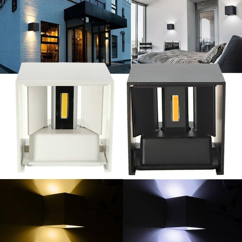 Wit / zwart Color COB hoge kwaliteit super heldere LED-wandlampen - Buitenverlichting