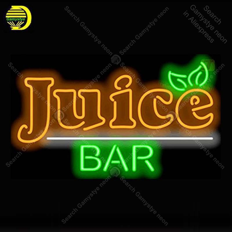 NEON SIGN For Juice Bar Neon Lamp Glass Tube Neon Bulbs Sign Decorate Shop Hotel Handcraft Indoor Sign advertise shop displayNEON SIGN For Juice Bar Neon Lamp Glass Tube Neon Bulbs Sign Decorate Shop Hotel Handcraft Indoor Sign advertise shop display