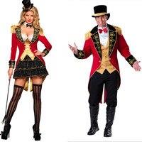 Halloween Adult Deluxe Ringmaster Couple Costume