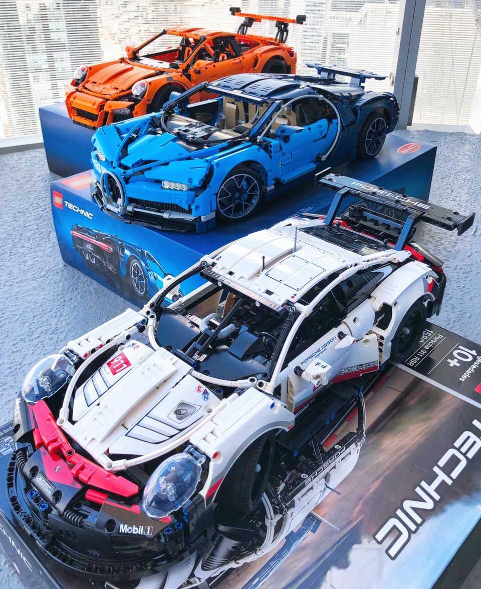 20097 20001 20086 GTRr RSR Bugatti Chiron Technic MOC Car Compatible with Iegoset 42096 42083 42056 Building Blocks Toys