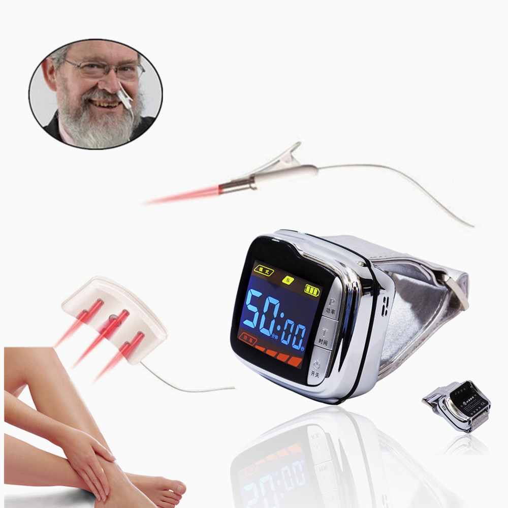 Portable Laser handheld Wrist Watch for Pain Relief High Blood Pressure at Home in Massage Relaxation from Beauty Health