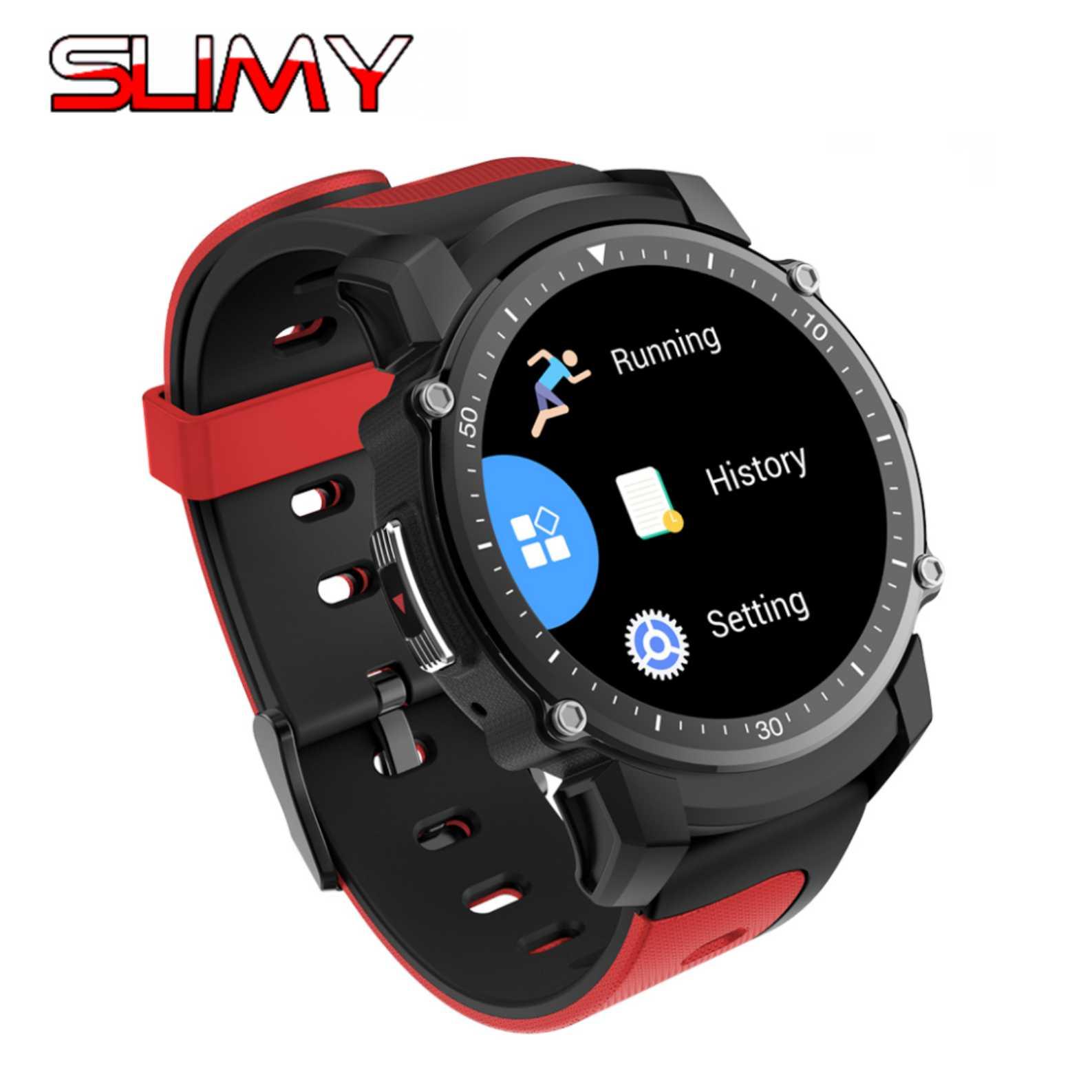 Slimy GPS Bluetooth 4.0 Multi-mode Sports Smart Watch IP68 Waterproof Dynamic Heart Rate Monitor Wristwatch Outdoor Smartwatch no 1 f2 ip68 bluetooth smartwatch green