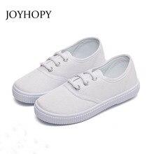 5d44f2bb7 الكلاسيكية أحذية بيضاء من القماش الكتاني للفتيات الفتيان الأطفال أحذية  رياضية تنفس رياضية الفتيان و الفتيات