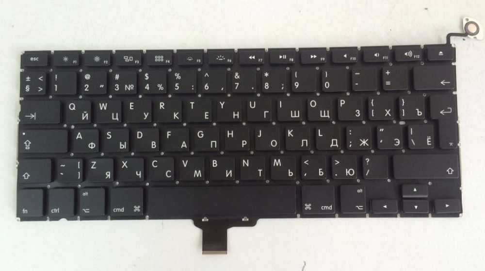 New Laptop keyboard for Macbook pro 13 A1278 RUSSIAN/FRENCH/Deutsch German/SPANISH/JAPANESE/US layout new keyboard for hp elitebook 820 g1 725 g2 us russian us belgium french swiss layout
