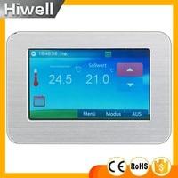Большой дисплей цветной сенсорный экран Еженедельно Программируемый цифровой напольного отопления термостат 16a ht cs01 переключатель