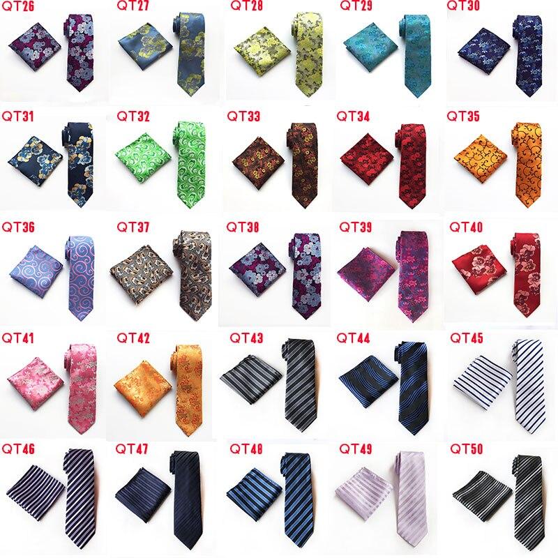 Модные геометрические формы бриллиантовый стиль Серебряный галстук Стразы запонки набор свадебный тонкий серебряный галстук для жениха г... - 3