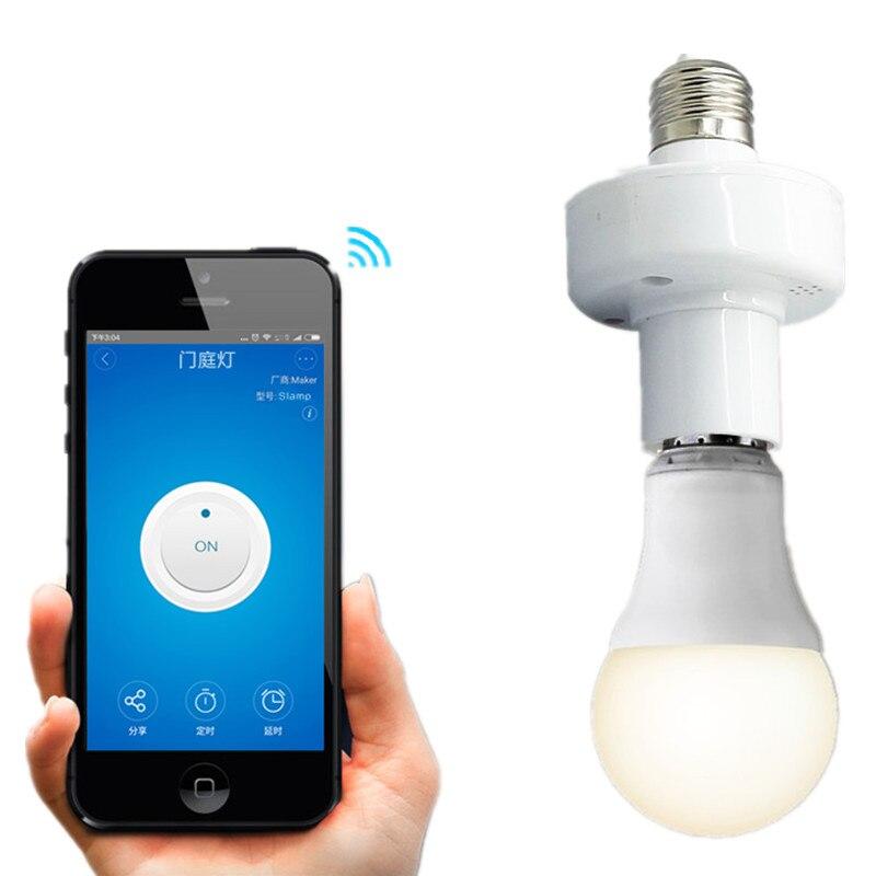 Para Smart Home Mejorar iOS Android E27 Control Remoto WiFi Soporte 433 MHz RF I