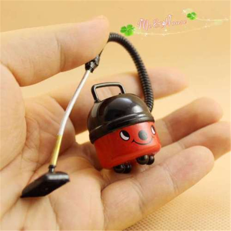 1/12 Cleaner Toy Dollhouse Miniature Cute Vacuum Cleaner Classic Pretend Play Furniture Toys For Child Doll House Docor Acceess