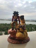 33 см мяч Дракон аниме Рисунок Супер Saiyan 4 куклы Сон Гоку фигурку Kakarotto Смолы Статуя Бюст Модель украшения игрушка Ver