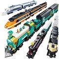 Kazi  на батарейках  поезд-контейнер  дизельный Электрический груз  строительные блоки  обучающие игрушки для детей